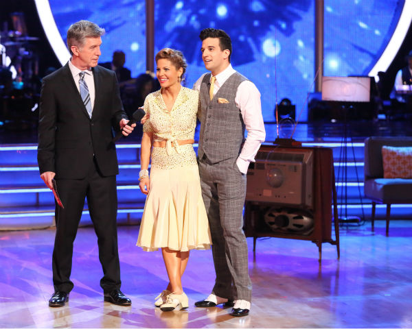 Candace Cameron Bure and Mark Ballas performed the Foxtrot on week 8 of &#39;Dancing With The Stars&#39; on May 5, 2014. They received 36 out of 40 points from the judges. She also scored 38 out of 40 points with Charlie White for their Contemporary routine during the celebrity dance duel. <span class=meta>(ABC Photo &#47; Adam Taylor)</span>