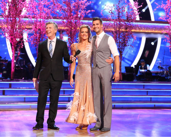 James Maslow and Peta Murgatroyd danced the Viennese Waltz on week 8 of &#39;Dancing With The Stars&#39; on May 5, 2014. They received 36 out of 40 points from the judges. He also scored 39 out of 40 points with Amy Purdy for their Jive during the celebrity dance duel. <span class=meta>(ABC Photo &#47; Adam Taylor)</span>