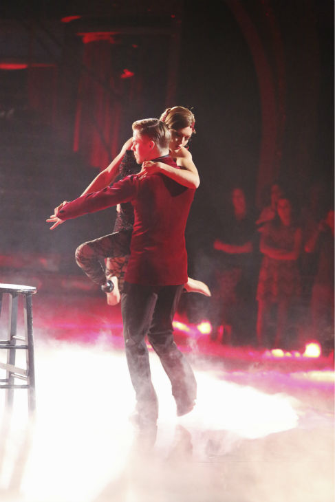 "<div class=""meta ""><span class=""caption-text "">Amy Purdy and Derek Hough dance the Argentine Tango on week 8 of 'Dancing With The Stars' on May 5, 2014. They received 40 out of 40 points from the judges. She also scored 39 out of 40 points with James Maslow for their Jive during the celebrity dance duel. (ABC Photo / Adam Taylor)</span></div>"