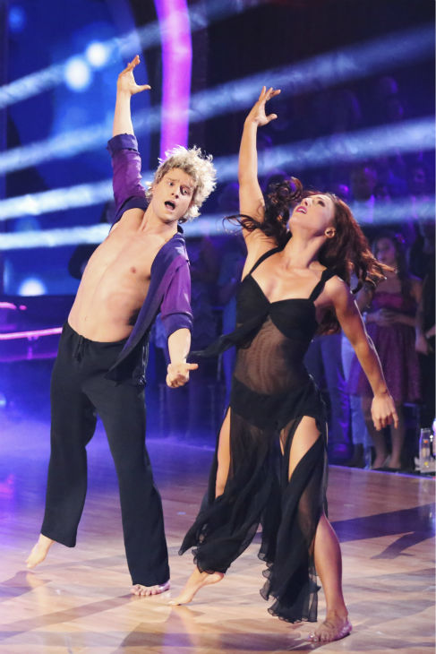 "<div class=""meta ""><span class=""caption-text "">Candace Cameron Bure and Charlie White perform a celebrity dance duel routine on week 8 of 'Dancing With The Stars' on May 5, 2014.  (ABC Photo / Adam Taylor)</span></div>"