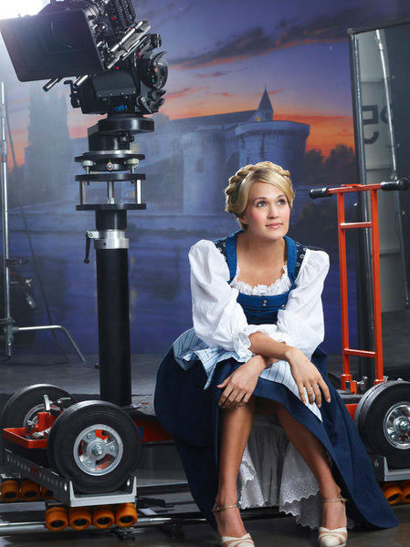Carrie Underwood appears in a photo from &#39;The Sound of Music Live!&#39; rehearsal. The show airs on Dec. 5, 2013. <span class=meta>(Nino Munoz&#47;NBC)</span>