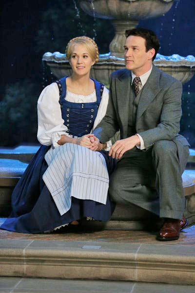 Carrie Underwood as Maria, Stephen Moyer as Captain Von Trapp appear in a photo from &#39;The Sound of Music Live!&#39; rehearsal. The show airs on Dec. 5, 2013. <span class=meta>(Photo&#47;NBC)</span>