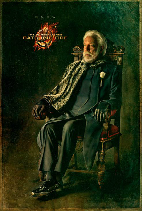 Donald Sutherland poses as President Snow in...