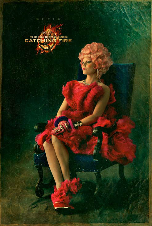 Elizabeth Banks poses as Effie Trinket in 'The...