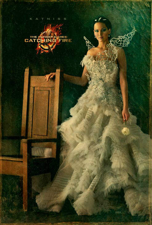 Jennifer Lawrence poses as Katniss Everdeen in...