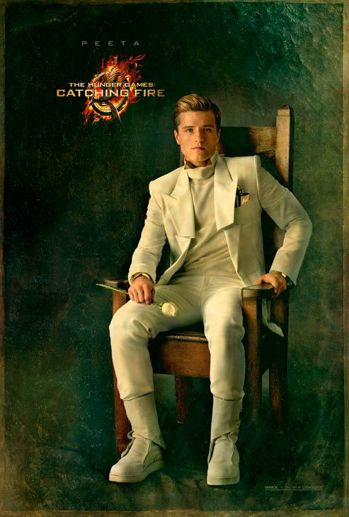 "<div class=""meta ""><span class=""caption-text "">Josh Hutcherson poses as Peeta Mellark in 'The Capitol Portraits Series' for 'The Hunger Games: Catching Fire' due out on November 22, 2013. (Lionsgate)</span></div>"
