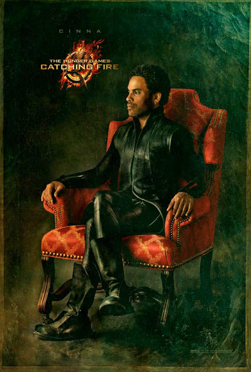Lenny Kravitz poses as Cinna in 'The Capitol...