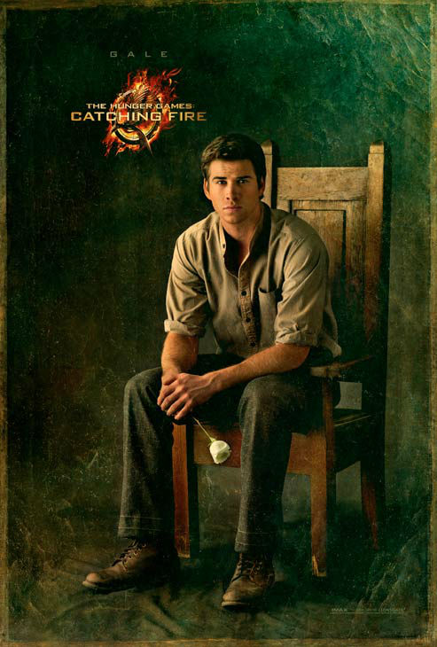 "<div class=""meta ""><span class=""caption-text "">Liam Hemsworth poses as Gale Hawthorne in 'The Capitol Portraits Series' for 'The Hunger Games: Catching Fire' due out on November 22, 2013. (Lionsgate)</span></div>"