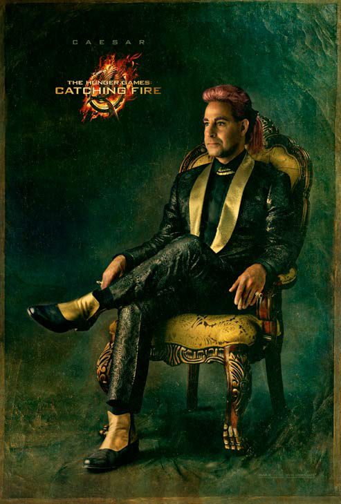 "<div class=""meta image-caption""><div class=""origin-logo origin-image ""><span></span></div><span class=""caption-text"">Stanley Tucci poses as Caesar Flickerman in 'The Capitol Portraits Series' for 'The Hunger Games: Catching Fire' due out on November 22, 2013. (Lionsgate)</span></div>"