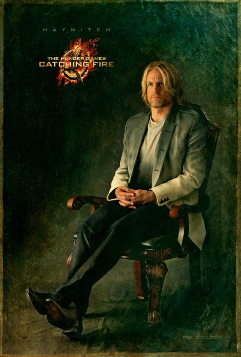 Woody Harrelson poses as Haymitch Abernathy in...