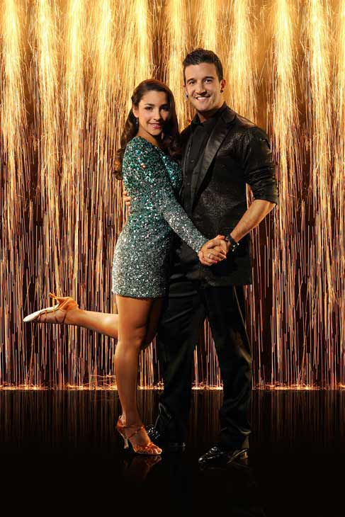 Aly Raisman and partner Mark Ballas appear in an...