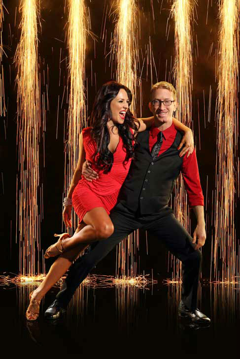 "<div class=""meta ""><span class=""caption-text "">Andy Dick and partner Sharna Burgess appear in an official cast photo for 'Dancing With The Stars: All-Stars' season 16. (ABC Photo/ Craig Sjodin)</span></div>"