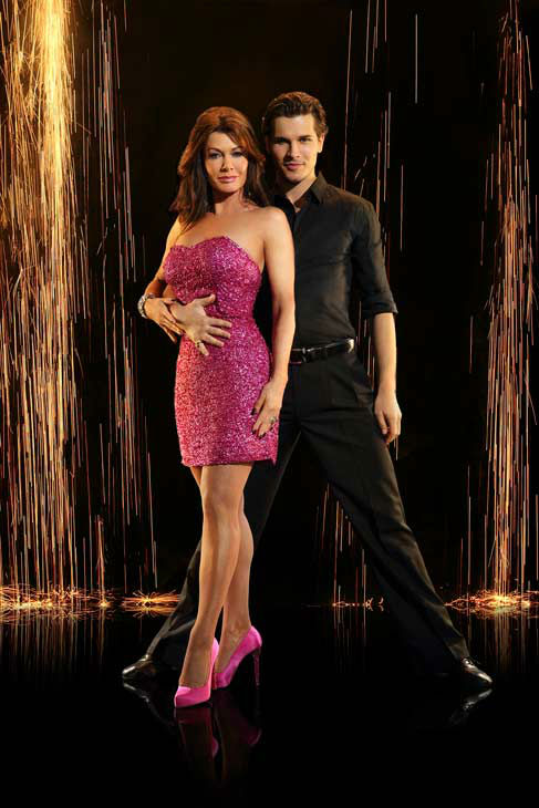 "<div class=""meta image-caption""><div class=""origin-logo origin-image ""><span></span></div><span class=""caption-text"">Lisa Vanderpump and partner Gleb Savchenko appear in an official cast photo for 'Dancing With The Stars: All-Stars' season 16. (ABC Photo/ Craig Sjodin)</span></div>"