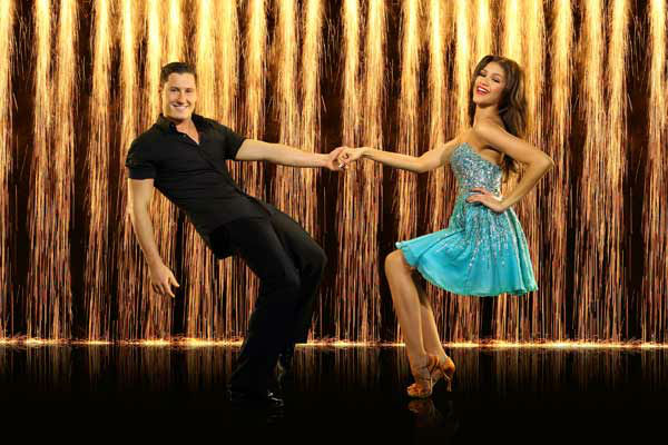 Zendaya Coleman and partner Val Chmerkovskiy appear in an official cast photo for 'Dancing With The Stars: All-Stars' season 16.