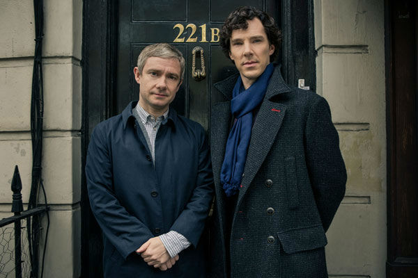 Benedict Cumberbatch and Martin Freeman appear in a promotional photo for season 3 of &#39;Sherlock&#39; set to air in the U.S. on Masterpiece on PBS starting on Jan. 19, 2014. <span class=meta>(Robert Viglasky&#47;Hartswood Films for MASTERPIECE)</span>