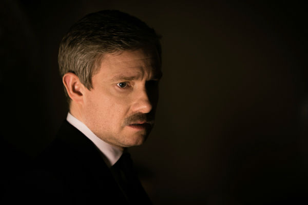"<div class=""meta ""><span class=""caption-text "">Martin Freeman appears in a promotional photo for season 3 of 'Sherlock' set to air in the U.S. on Masterpiece on PBS starting on Jan. 19, 2014. (Robert Viglasky/Hartswood Films for MASTERPIECE)</span></div>"