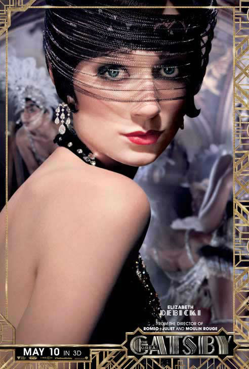 "<div class=""meta ""><span class=""caption-text "">Elizabeth Debicki appears as Jordan Baker in an official character poster for the 2013 movie 'The Great Gatsby.' (Warner Bros. Pictures)</span></div>"