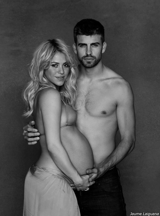 Shakira appears with boyfriend Gerard Pique in a photo taken in December 2012 and posted on her official Facebook page on January 16, 2013. - Provided courtesy of Facebook.com/Shakira / JAUME LAIGUANA