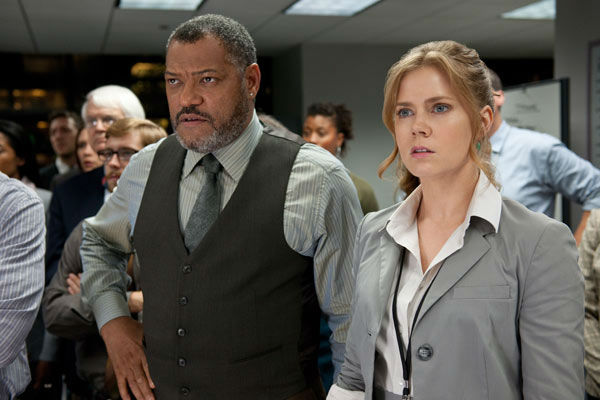 Laurence Fishburn as Perry White and Amy Adams as Lois Lane in Warner Bros. Pictures&#39; and Legendary Pictures&#39; action adventure &#39;Man of Steel,&#39; a Warner Bros. Pictures release. <span class=meta>(Clay Enos &#47; Warner Bros. Pictures)</span>