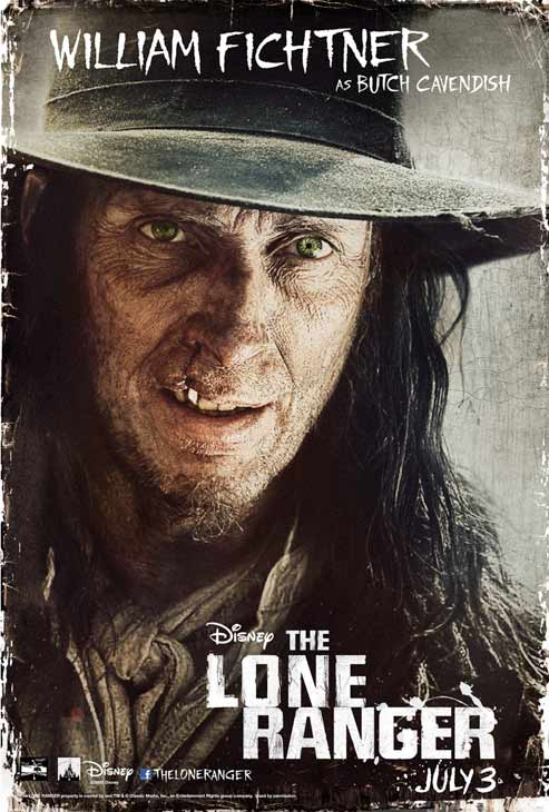 William Fichtner appears in an official poster for Walt Disney's 2013 movie 'The Lone Ranger.'