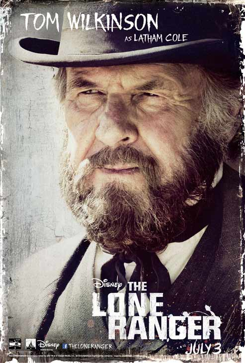 Tom Wilkinson appears in an official poster for Walt Disney's 2013 movie 'The Lone Ranger.'