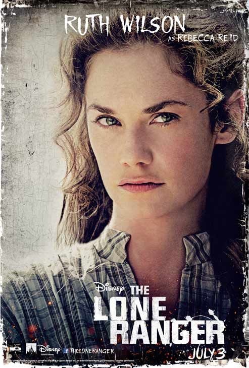 Ruth Wilson appears in an official poster for Walt Disney's 2013 movie 'The Lone Ranger.'