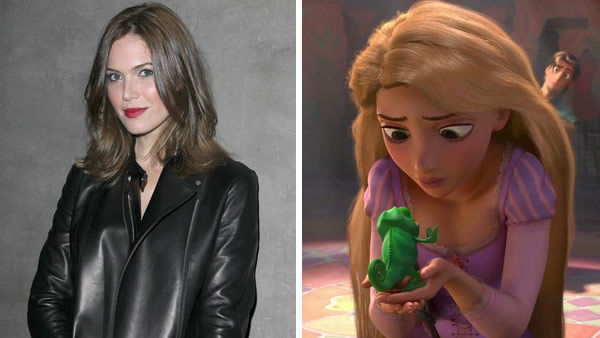 Mandy Moore &#40;A Walk To Remember, License To Wed&#41; took on the classic role of Rapunzel in the 2010 Disney adaption &#39;Tangled.&#39; The film grossed more than &#36;500 million worldwide and was nominated for Best Animated Feature at the Academy Awards, losing to another Disney film -- &#39;Toy Story 3.&#39; &#40;Pictured: Left -- Mandy Moore appears at The NARS 8412 Melrose Boutique opening VIP party in Los Angeles, California on Oct. 20, 2012. Right -- Mandy Moore as Rapunzel in &#39;Tangled.&#39;&#41; <span class=meta>(Norman Scott &#47; startraksphoto.com &#47; Disney)</span>