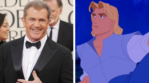 Mel Gibson &#40;Lethal Weapon, Braveheart&#41; portrayed a fictionalized John Smith in Disney&#39;s 1995 animated film &#39;Pocahontas.&#39; The film won two Academy Awards, including Best Original Score and Best Original Song for &#39;Colors of the Wind.&#39;  &#40;Pictured: Left -- Mel Gibson appears at the 70th Annual Golden Globe Awards in Los Angeles, California on Jan. 13, 2013. Right -- Mel Gibson as John Smith in &#39;Pocahontas.&#39;&#41; <span class=meta>(Giulio Marcocchi &#47; startraksphoto.com &#47; Disney)</span>