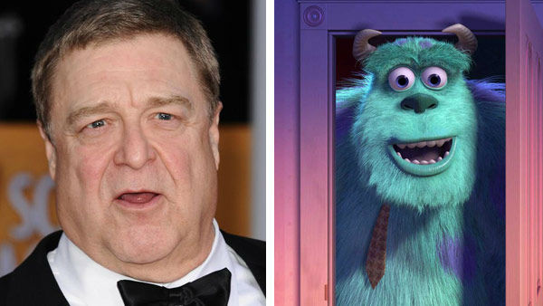 John Goodman &#40;Roseanne, Argo&#41; voiced Mike &#39;Sully&#39; Sullivan in the Disney and Pixar film &#39;Monster&#39;s Inc.&#39; in 2001. The actor returned to the role in 2013 to take part in the prequel, &#39;Monster&#39;s University.&#39; &#40;Pictured: Left -- John Goodman appears at the 19th Annual Screen Actors Guild Awards in Los Angeles, California on Jan. 27, 2013. Right -- John Goodman as Sully in &#39;Monster&#39;s Inc.&#39;&#41; <span class=meta>(Kyle Rover &#47; startraksphoto.com &#47; Disney)</span>
