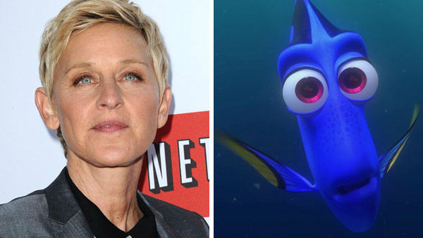 Ellen DeGeneres &#40;The Ellen DeGeneres Show&#41; lent her voice to the role of the forgetful and loveable Dory in &#39;Finding Nemo.&#39; The 2003 Disney and Pixar film went onto gross more than &#36;900 million worldwide. A sequel is currently in development to be released in 2015 titled &#39;Finding Dory.&#39; &#40;Pictured: Left -- Ellen Degeneres appears at the Los Angeles, California premiere of &#39;Arrested Development&#39; on April 29, 2013. Right -- Ellen DeGeneres as Dory in &#39;Finding Nemo.&#39;&#41; <span class=meta>(Sara De Boer &#47; startraksphoto.com &#47; Disney)</span>