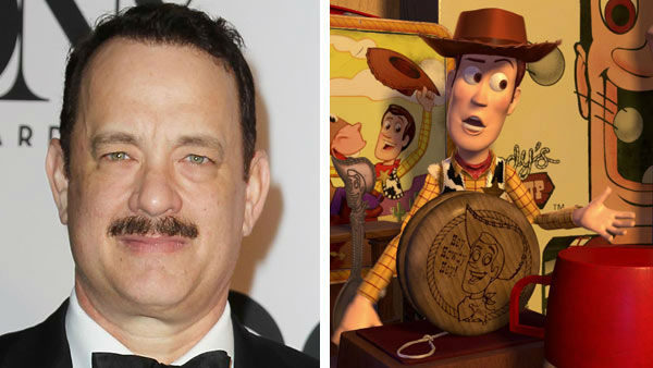 Tom Hanks &#40;Forrest Gump, Philadelphia&#41; voiced the iconic Disney character Woody in the &#39;Toy Story&#39; series from Disney and Pixar. To date, the &#39;Toy Story&#39; franchise has earned more than &#36;1.9 billion worldwide since the first installment in 1995. &#40;Pictured: Left -- Tom Hanks appears at the 67th Annual Tony Awards in New York City on June 9, 2013. Right -- Tom Hanks as Woody in &#39;Toy Story.&#39;&#41; <span class=meta>(Amanda Schwab &#47; startraksphoto.com &#47; Disney)</span>