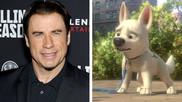 John Travolta &#40;Grease, Saturday Night Fever&#41; voiced the role of a curious dog named Bolt in the Disney animated film &#39;Bolt&#39; in 2008. Travolta and his co-star Miley Cyrus teamed up for a song on the film&#39;s original soundtrack, titled &#39;I Thought I Lost You.&#39;  &#40;Pictured: Left -- John Travolta appears at the New York City screening of Millennium&#39;s &#39;Killing Season&#39; on June 20, 2013. Right -- John Travolta as Bolt in &#39;Bolt.&#39;&#41; <span class=meta>(Marion Curtis &#47; startraksphoto.com &#47; Disney)</span>