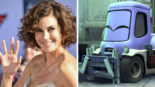 Teri Hatcher &#40;Desperate Housewives, Lois and Clark&#41; voiced the role of Dottie in the August 2013 Disney animated film &#39;Planes.&#39; When asked about her role, Hatcher said to OTRC.com: &#39;It probably goes on a lot of actors&#39; bucket lists to be in a Disney animated movie. They&#39;ve played a big part in my life, my life with my daughter when she was younger, especially. You feel like you&#39;re going to be a part of something that families are going to be watching for decades, so I guess it&#39;s an easy &#39;yes&#39;.&#39; &#40;Pictured: Left -- Teri Hatcher appears at the premiere of Disney&#39;s &#39;Planes&#39; in Los Angeles, California on Aug. 5, 2013. Right -- Teri Hatcher as Dottie in &#39;Planes.&#39;&#41; <span class=meta>(Tony Dimaio &#47; startraksphoto.com &#47; Disney)</span>