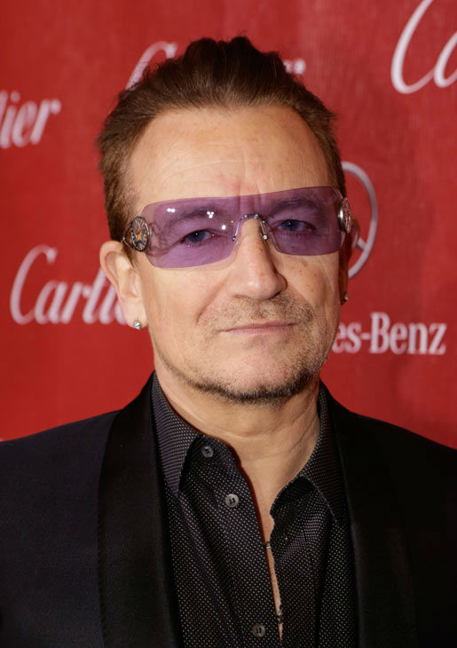 Musician Bono of U2 arrives at the 25th annual Palm Springs International Film Festival awards gala at Palm Springs Convention Center on January 4, 2014 in Palm Springs, California. <span class=meta>(Jeff Vespa&#47;Getty Images for PSIFF)</span>