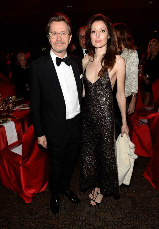Actor Gary Oldman and Alexandra Edenborough attend the 25th annual Palm Springs International Film Festival awards gala at Palm Springs Convention Center on January 4, 2014 in Palm Springs, California. <span class=meta>(Michael Buckner&#47;Getty Images for PSIFF)</span>
