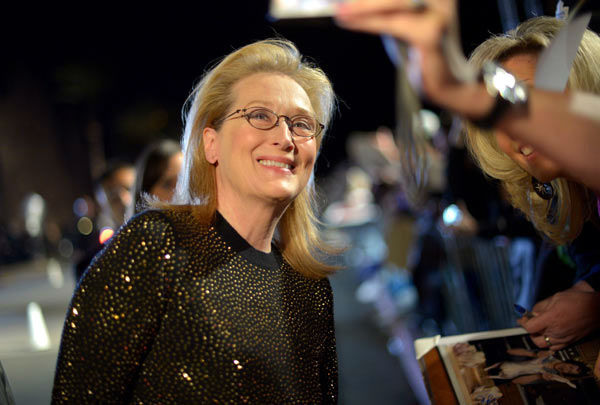 Meryl Streep arrives at the 25th annual Palm Springs International Film Festival awards gala at Palm Springs Convention Center on January 4, 2014 in Palm Springs, California. <span class=meta>(Charley Gallay&#47;Getty Images for PSIFF)</span>