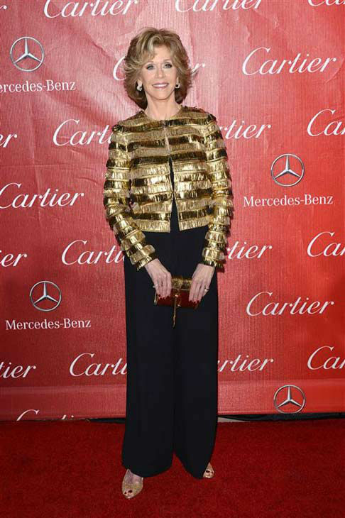 Jane Fonda appears at the 2014 Palm Springs International Film Festival Awards Gala on Jan. 4, 2013. <span class=meta>(Daniel Robertson&#47;startraksphoto.com)</span>