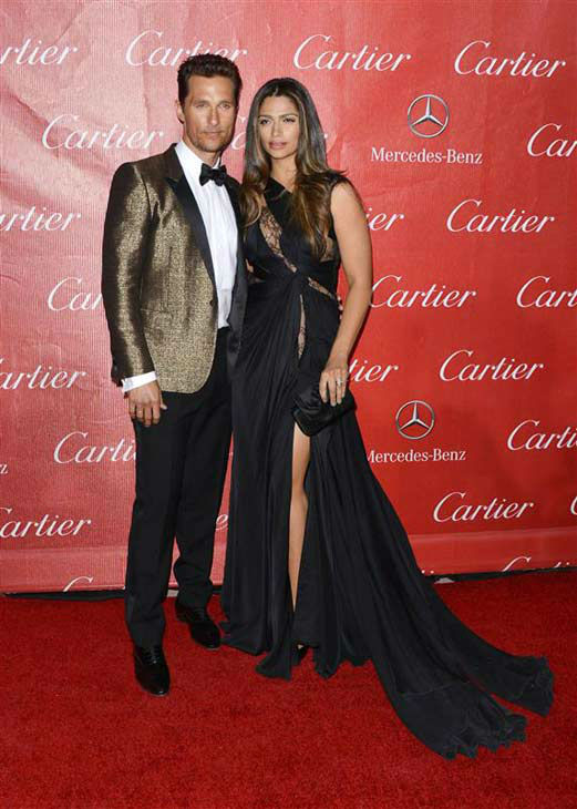 Matthew McConaughey and Camila Alves appear at the 2014 Palm Springs International Film Festival Awards Gala on Jan. 4, 2013. <span class=meta>(Tony Dimaio&#47;startraksphoto.com)</span>
