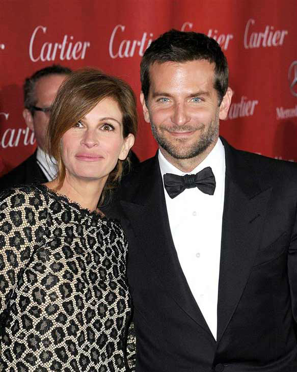 Julia Roberts and Bradley Cooper appear at the 2014 Palm Springs International Film Festival Awards Gala on Jan. 4, 2014.