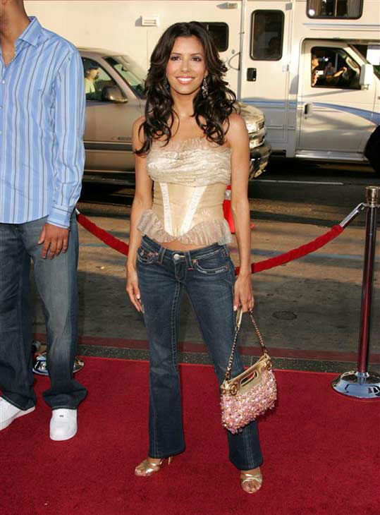 Eva Longoria appears at the Los Angeles premiere of &#39;The Dukes of Hazzard&#39; on July 28, 2005.  <span class=meta>(Shelly Patch &#47; startraksphoto.com)</span>