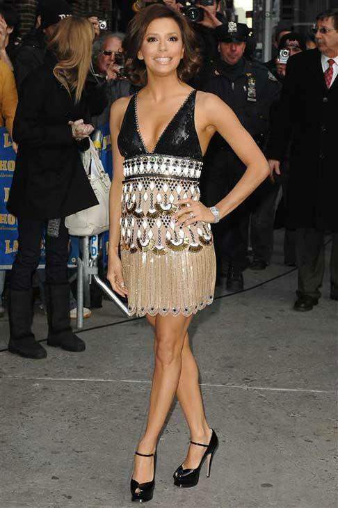 Eva Longoria appears at &#39;The Late Show with David Letterman&#39; in New York City on Jan. 31, 2008.  <span class=meta>(Humberto Carreno &#47; startraksphoto.com)</span>