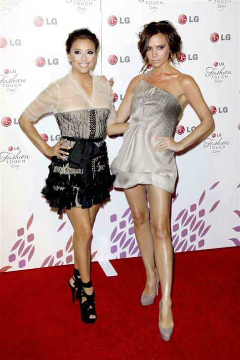 Eva Longoria appears with Victoria Beckham at the LG Fashion Touch launch party in Los Angeles, California on May 24, 2010.  <span class=meta>(Norman Scott &#47; startraksphoto.com)</span>