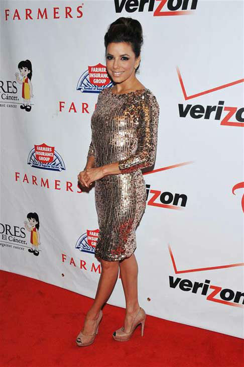 Eva Longoria appears at the PADRES Contra El Cancer &#40;Parents Against Cancer&#41; Benefit in Las Vegas, Nevada on Oct. 15, 2011.  <span class=meta>(Dave Proctor &#47; startraksphoto.com)</span>