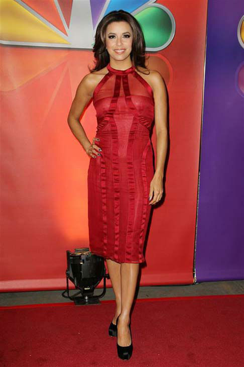 Eva Longoria appears at the 2012 NBC Upfront Presentation in New York City on May 14, 2012. <span class=meta>(Amanda Schwab &#47; startraksphoto.com)</span>