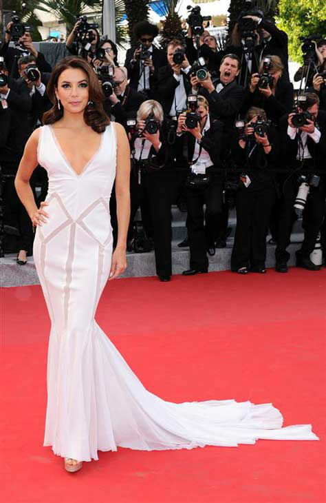 Eva Longoria appears at the 65th annual Cannes Film Festival and premiere of &#39;Rust and Bone&#39; on May 17, 2012.  <span class=meta>(Joseph Kerlakain &#47; startraksphoto.com)</span>