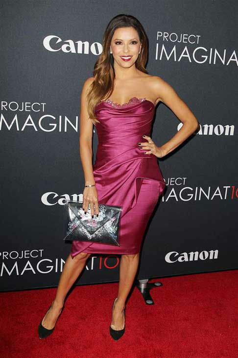 Eva Longoria appears at the premiere of Canon's 'Project Imaginat10n' Film Festival in New York City on Oct. 24, 2013.