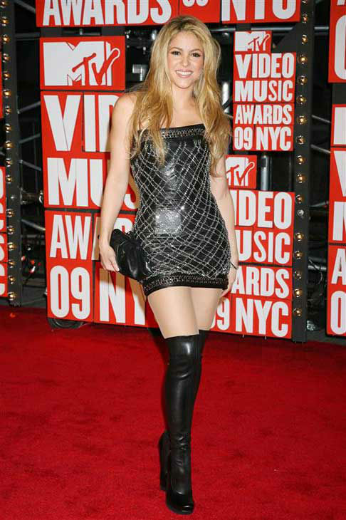 Shakira appears at the 2009 MTV Video Music Awards in New York City on Sept. 13, 2009. <span class=meta>(Dave Allocca &#47; startraksphoto.com)</span>