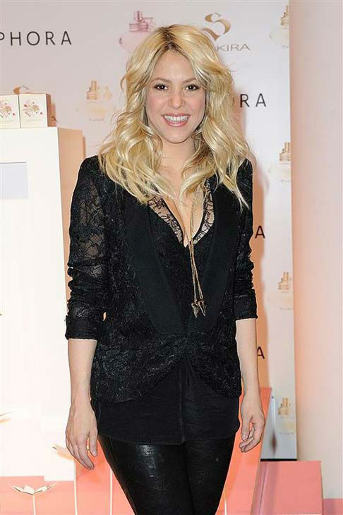 Shakira appears at the launch of her fragrance &#39;S by Shakira&#39; in Paris, France on March 27, 2013.  <span class=meta>(Nicolas Briquet &#47; startraksphoto.com)</span>