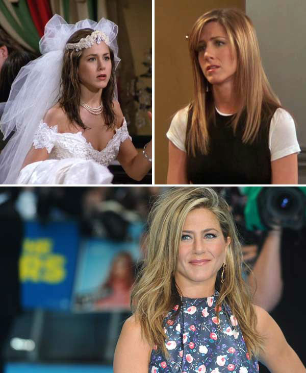 Jennifer Aniston portrayed Rachel Green on &#39;Friends.&#39; In the beginning of the series, Green is a spoiled New Yorker who has no concept of how to make it without the help of her father&#39;s money when she leaves her fiance at the altar.   Over the course of 10 seasons, Green progresses from a ditzy waitress into a successful fashion executive and single mom to a daughter named Emma, with whom she had with on-again, off-again, then FINALLY on-again boyfriend Ross Geller &#40;Schwimmer&#41;. The show&#39;s final season finds the two characters vowing to stay together and not mess up the relationship they have -- unless, of course, they&#39;re &#39;on a break.&#39;   Aniston went onto to find success as a film actress in several hit movies, including &#39;The Break-Up,&#39; &#39;Marley and Me,&#39; &#39;Horrible Bosses&#39; and 2013&#39;s &#39;We&#39;re The Millers.&#39;   Aniston was married to actor Brad Pitt from 2000 to 2005. The two spilt amidst rumors of infidelity between Pitt and his &#39;Mr. and Mrs. Smith&#39; co-star Angelina Jolie. The two would later confirm their couple status. Aniston went onto date her &#39;The Break-Up&#39; co-star Vince Vaughn, singer John Mayer and in 2012 became engaged to actor Justin Theroux.   &#40;Pictured: Jennifer Aniston appears in stills from season 1 and 10 from the NBC series &#39;Friends.&#39; Jennifer Aniston appears at the London, England premiere of &#39;We&#39;re The Millers&#39; on Aug. 14, 2013. &#41; <span class=meta>(NBC &#47; Anthony Harvey &#47; startraksphoto.com)</span>
