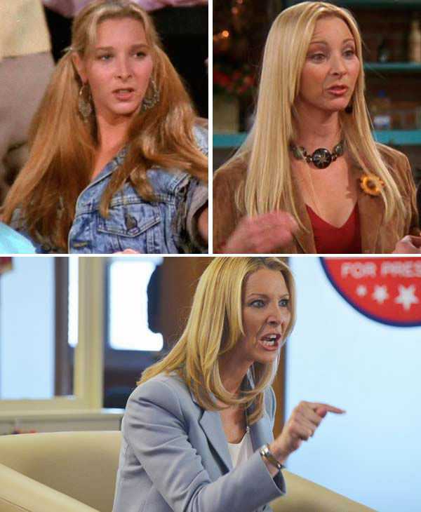 Lisa Kudrow portrayed Phoebe Buffay on &#39;Friends,&#39; the ditzy bohemian who grew up less fortunate than her friends. Throughout the show, Buffay marches to the beat of her own quirky drum, taking on a career in massage therapy and moonlighting as an amateur singer&#47;songwriter at &#39;Central Perk&#39; coffee shop between work. She performs the infamous song &#39;Smelly Cat&#39; among other unique titles.   Throughout the show, she spars with her twin sister, Ursula, who was featured on the NBC sitcom &#39;Mad About You.&#39; She ultimately finds love on the show in Mike Hannigan &#40;played by Paul Rudd&#41;. The two wed during the show&#39;s 10th season.   Kudrow has starred in several films, including &#39;Romy and Michele&#39;s High School Reunion&#39; and &#39;Easy A.&#39; Following her run on &#39;Friends,&#39; Kudrow went onto  star in the television shows &#39;The Comeback&#39; and &#39;Web Therapy.&#39; In 2013, she guest starred on several episodes of the hit ABC series &#39;Scandal.&#39;   Kudrow married her husband, Michael Stern, in May 1995. They welcomed a son, Julian, in 1998.   &#40;Pictured: Lisa Kudrow appears in stills from season 1 and 10 from the NBC series &#39;Friends.&#39; Lisa Kudrow appears in a 2013 episode of the ABC series &#39;Scandal.&#39;&#41; <span class=meta>(NBC &#47; Eric McCandless &#47; ABC)</span>